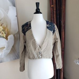 Rare Vintage 80s Texas Country Cropped Jacket
